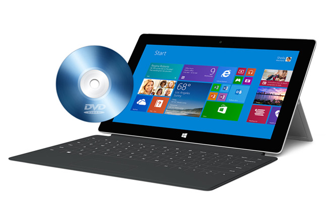 convert dvd to surface 2
