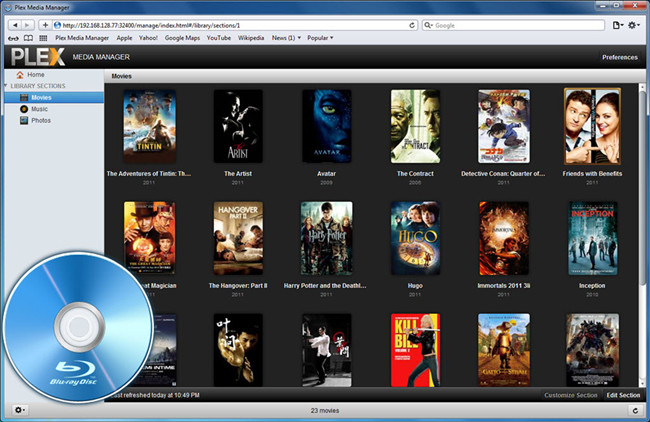 Watch Blu-ray Movies through Plex Media Server on Devices at Home