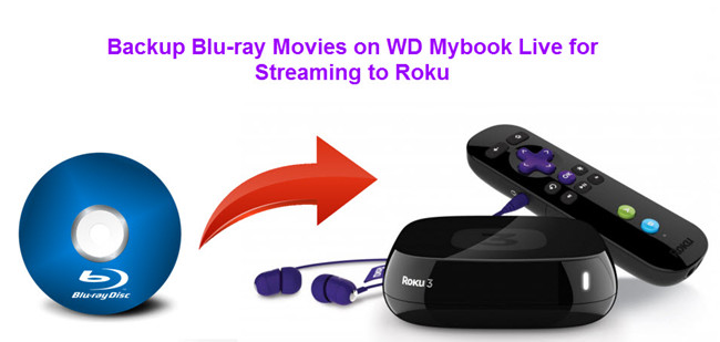 digitize bluray on wd mybook live for roku
