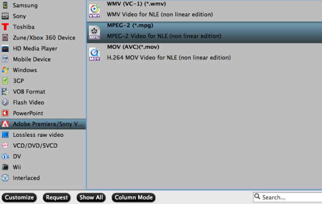 convert canon mxf to mpeg-2 premiere cc cs