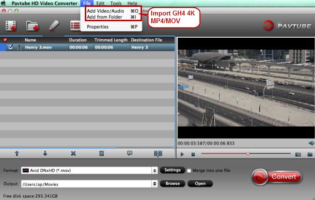 import gh4 4k mp4 mov