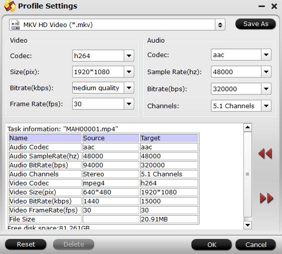 Convert GoPro Hero4 4K Videos to MKV/AVI/MOV/MPG/MP4, etc