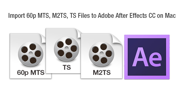 convert 60p mts m2ts ts to adobe after effects cc