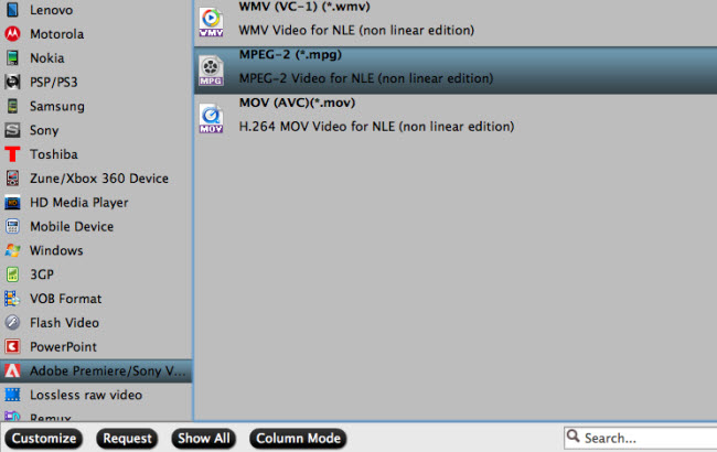 convert xavc to avchd to mpeg premiere pro cc