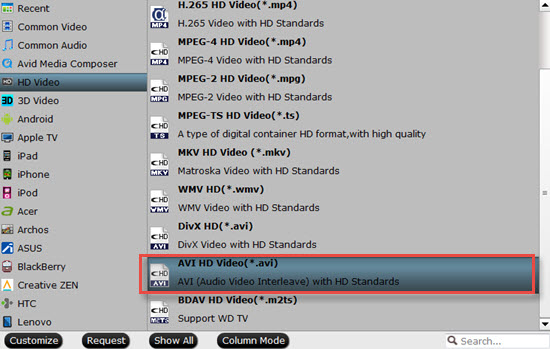 Output Pinnacle Studio 21 Standard or Plus supported HD formats