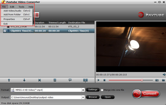 Load unsupported MP4 video