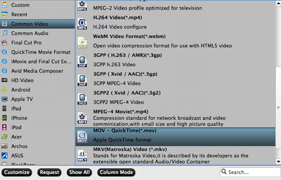 output quicktime mov