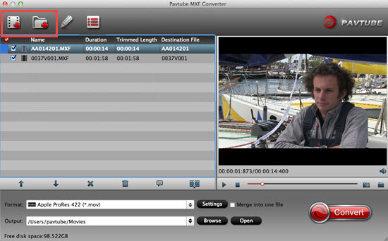 load mxf file to mxf converter Ikegami GFCAM HDS V10 MXF to Avid MC Workflow