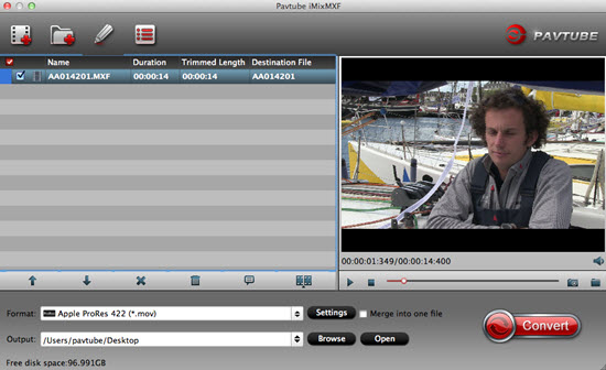 load mxf multi track files Convert Canon C300 Mark II 4K MXF to ProRes for FCP X