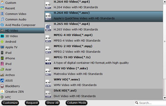 Output Cyberlink PowerDirector supported editing formats