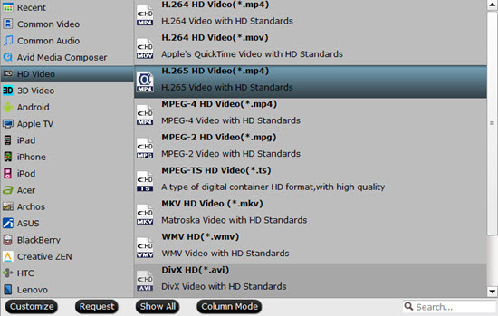 h.265 output format Rip 4K Blu ray to HEVC MP4 for high end smartphones Using NVIDIA CUDA
