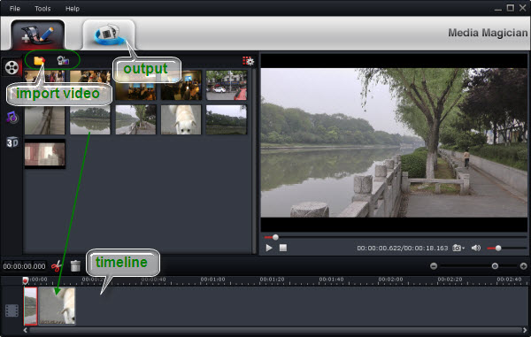 Quickly and easily remove junk from raw HD footage by Sony