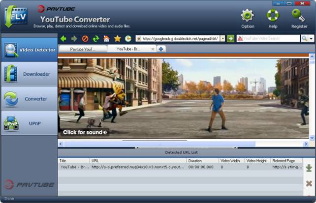 Pavtube YouTube Converter Screenshot