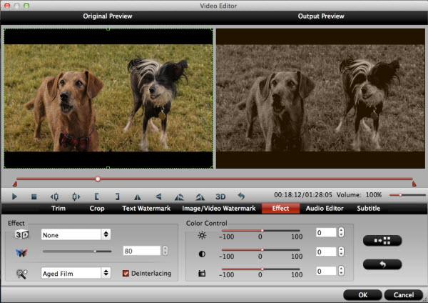 imedia converter for mac editing interface