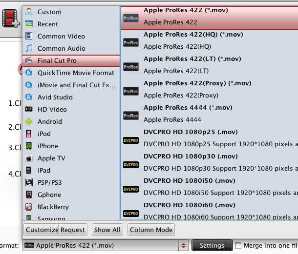 Mac MXF Converter Profile