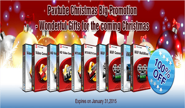 Pavtube Christmas Big Promotion- Wonderful Gifts for the coming Christmas
