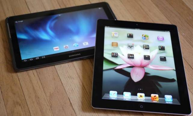 Samsung Galaxy Tab 2 10.1 vs iPad = no contest