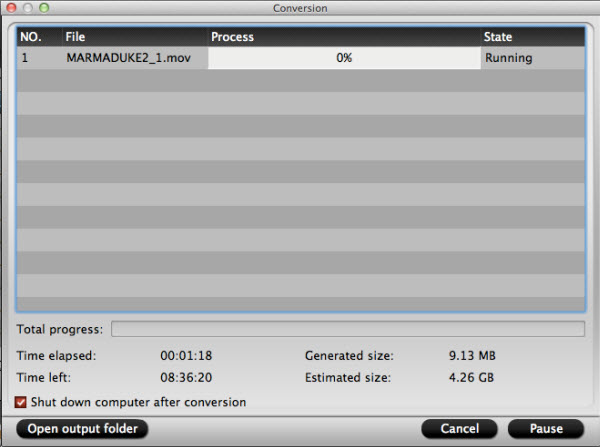 blu-ray ripper for mac conversion interface