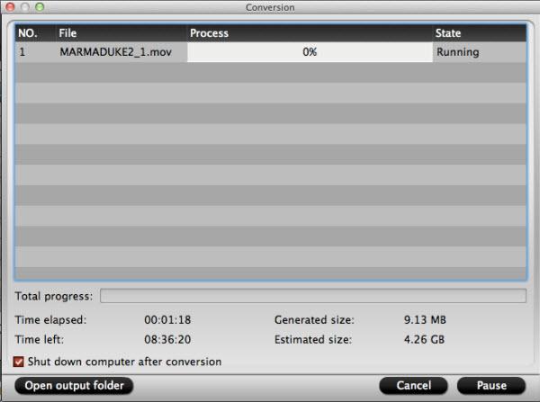 blu-ray ripper for mac conversion interface