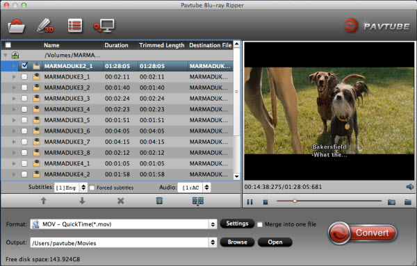 Pavtube Blu-Ray Ripper for Mac Screenshot