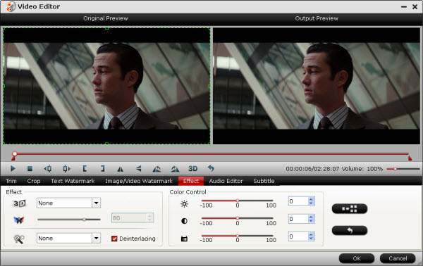 blu-ray ripper editing interface
