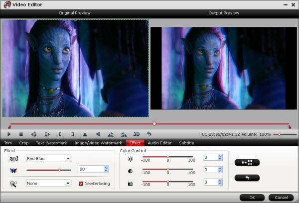 blu-ray video converter ultimate editing interface