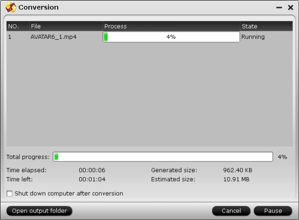 dvd ripper conversion interface