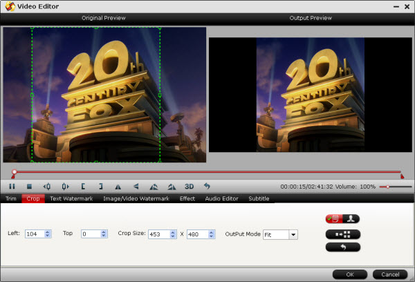 dvd ripper editing interface
