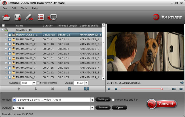 video dvd converter ultimate importing interface