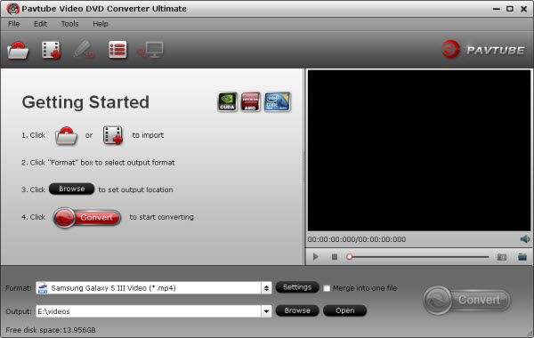 video dvd converter ultimate main interface