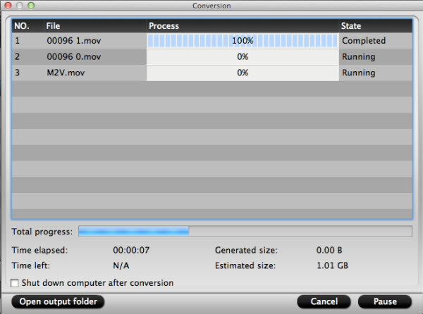 hd video converter for mac conversion interface