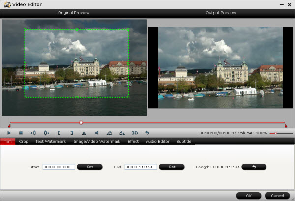 hd video converter editing interface