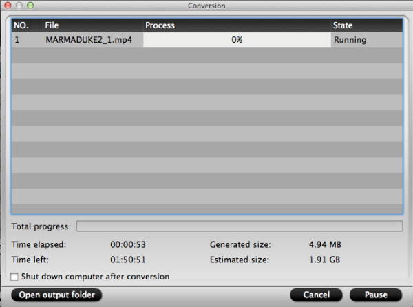imedia converter for mac conversion interface
