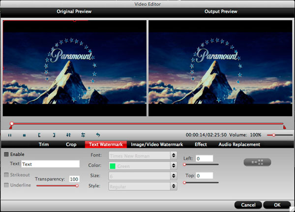 imedia converter for mac editing interface