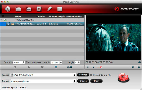 Pavtube ChewTune for Mac + iMedia Converter for Mac Screenshot