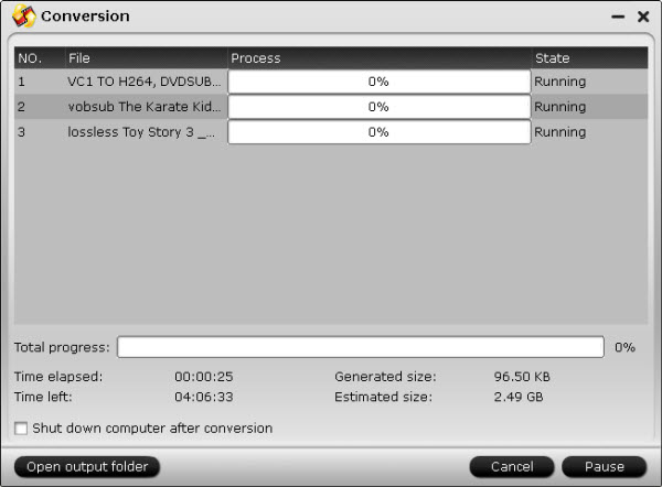 mkv converter conversion interface
