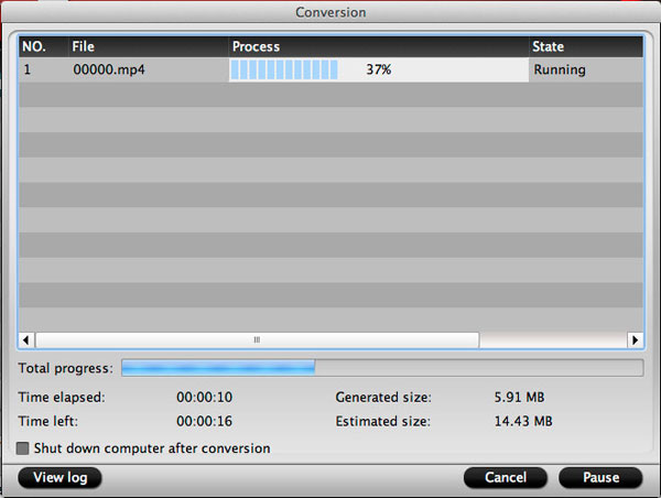 Pavtube MTS/M2TS Converter for Mac Screenshot