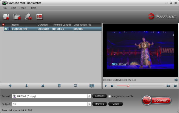 import Convert P2 AVC Intra 50/100 MXF Files to AVI/WMV/MPG/MP4/FLV