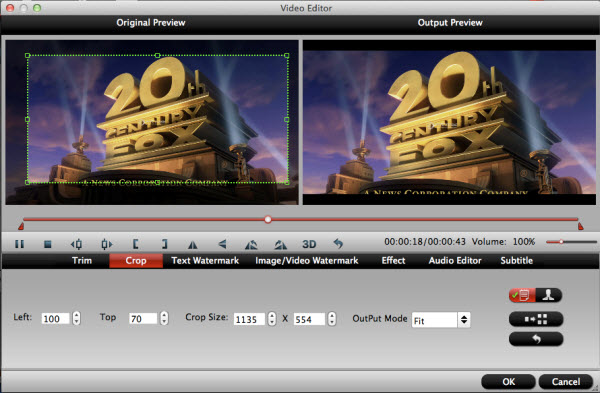 video converter for mac editing interface