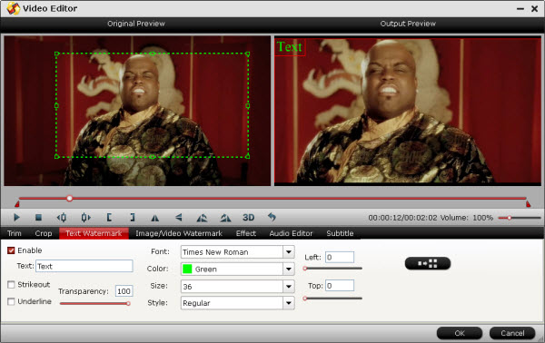 Pavtube Video Converter editing window