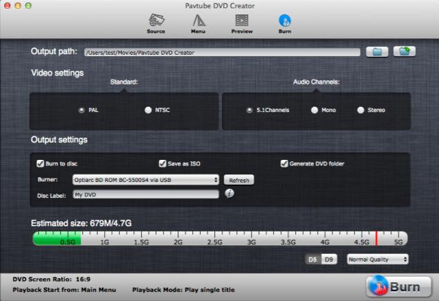 DVD Creator for Mac Online Help - Burn DVD/DVD ISO