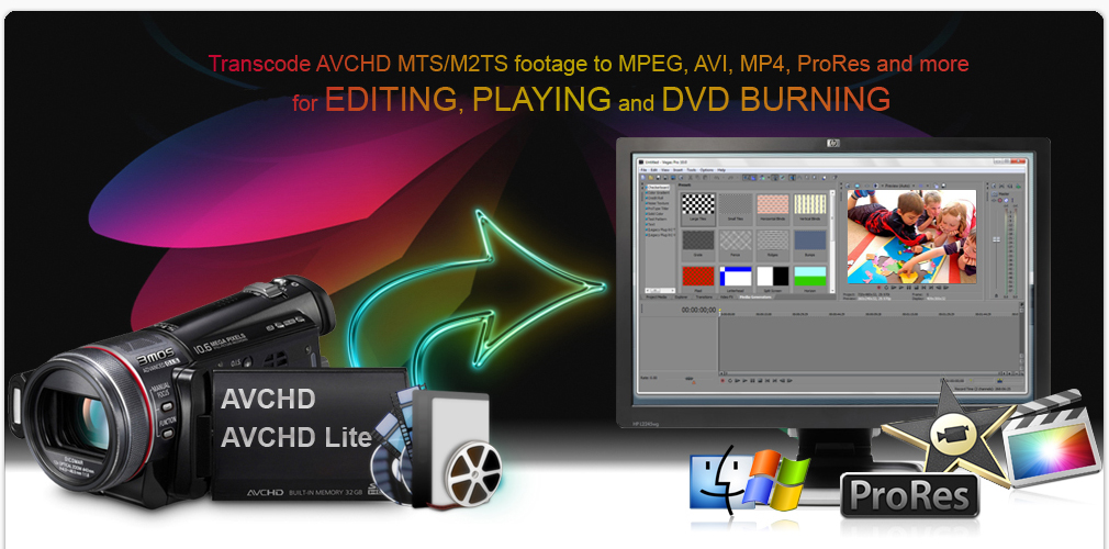 Convert AVCHD/AVCHD Lite MTS/M2TS files to MPEG/AVI/MP4