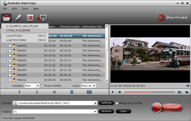 Lossless backup Blu-ray DVD to multitrack MKV