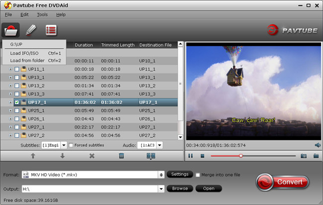Pavtube Free DVDAid screenshot