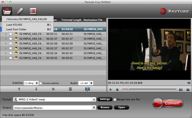 Free rip DVD disc to Mac MKV,WMV,MOV,AVI,VOB